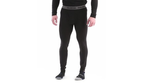 Guide Gear Men's Lightweight Base Layer Bottoms 360 View - image 10 from the video