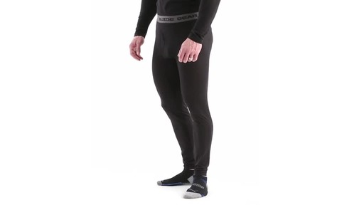 Guide Gear Men's Lightweight Base Layer Bottoms 360 View - image 9 from the video
