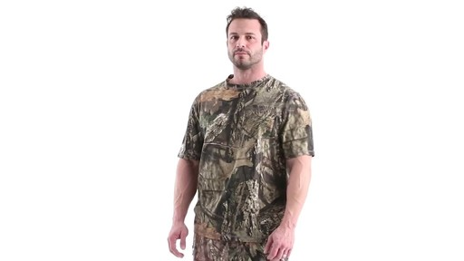 Guide Gear Men's 3T Camo Hunting Shirt Short Sleeve 360 View - image 10 from the video