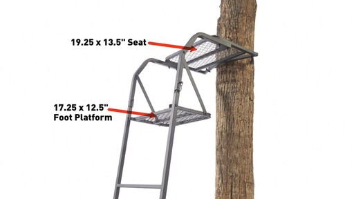 Guide Gear 15' Ladder Tree Stand - image 7 from the video
