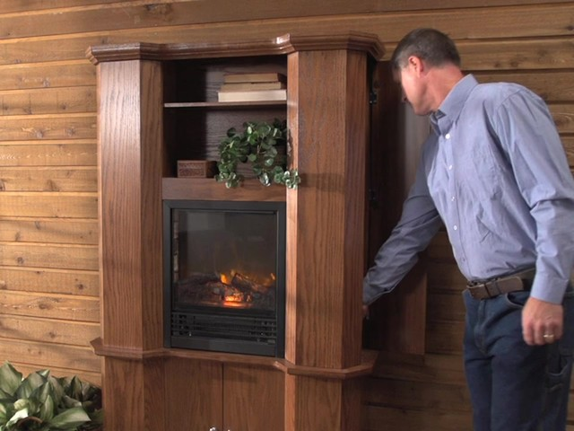 CASTLECREEK™ Gun Cabinet Fireplace - image 5 from the video