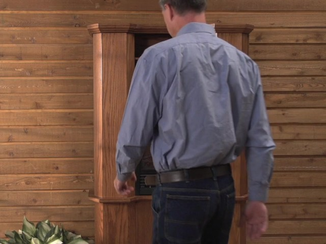 CASTLECREEK™ Gun Cabinet Fireplace - image 6 from the video