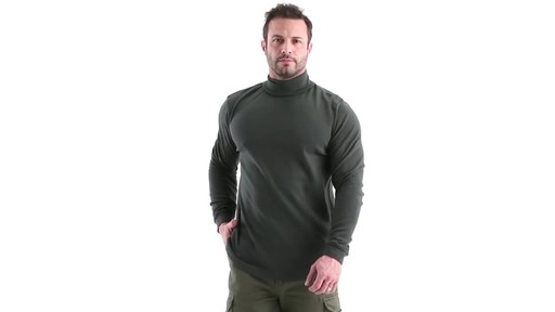 Guide Gear Men's Turtleneck Long-Sleeve Shirt 360 View - image 9 from the video