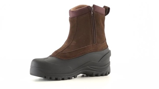 Guide Gear Men's Insulated Side Zip Winter Boots 600 Gram 360 View - image 1 from the video