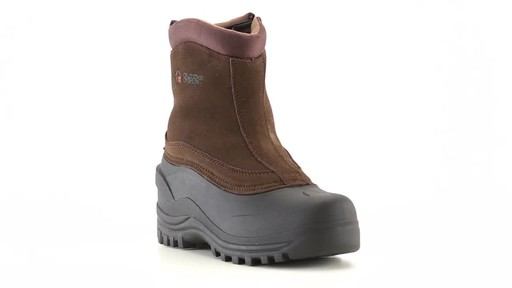 Guide Gear Men's Insulated Side Zip Winter Boots 600 Gram 360 View - image 4 from the video