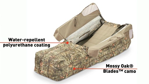 Guide Gear Deluxe Waterfowl Camo Hunting Blind Mossy Oak Blades - image 5 from the video