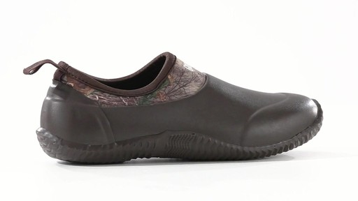 Guide Gear Men's Low Camo Waterproof Rubber Shoes Realtree Xtra 360 View - image 1 from the video