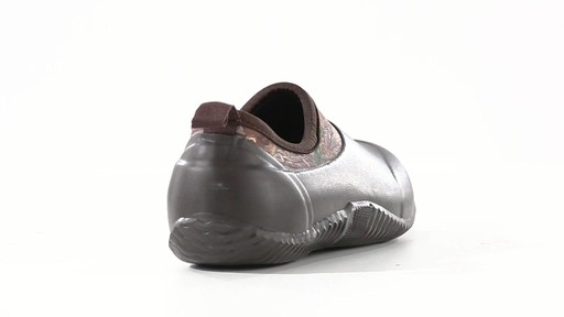 Guide Gear Men's Low Camo Waterproof Rubber Shoes Realtree Xtra 360 View - image 2 from the video