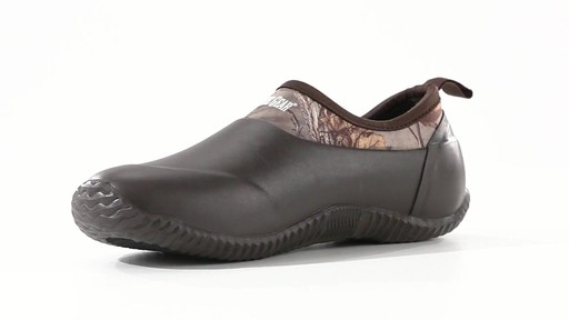 Guide Gear Men's Low Camo Waterproof Rubber Shoes Realtree Xtra 360 View - image 5 from the video