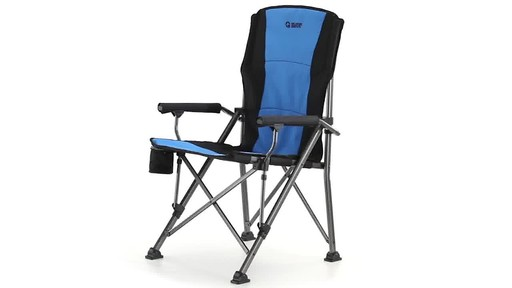 Guide Gear Oversized Champion Hard Arm Camp Chair Blue - image 1 from the video