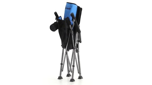 Guide Gear Oversized Champion Hard Arm Camp Chair Blue 360 View - image 10 from the video