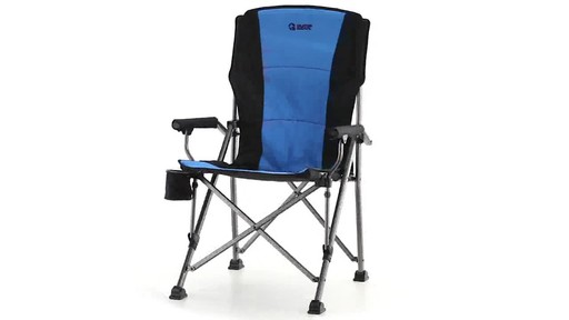 Guide Gear Oversized Champion Hard Arm Camp Chair Blue 360 View - image 2 from the video