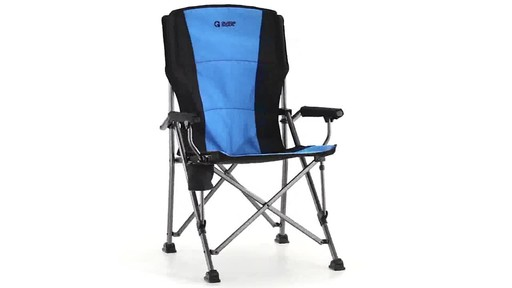 Guide Gear Oversized Champion Hard Arm Camp Chair Blue - image 3 from the video
