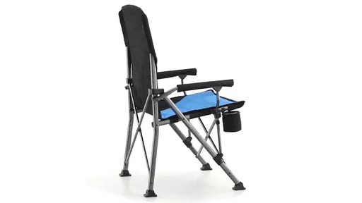Guide Gear Oversized Champion Hard Arm Camp Chair Blue 360 View - image 5 from the video