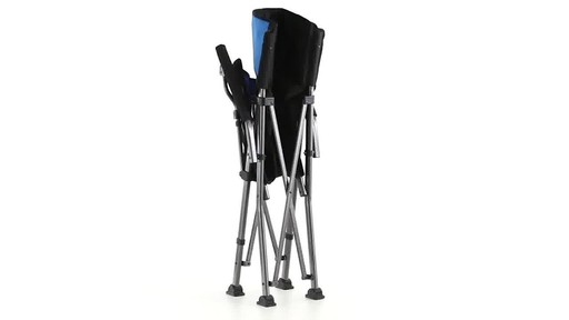 Guide Gear Oversized Champion Hard Arm Camp Chair Blue 360 View - image 7 from the video