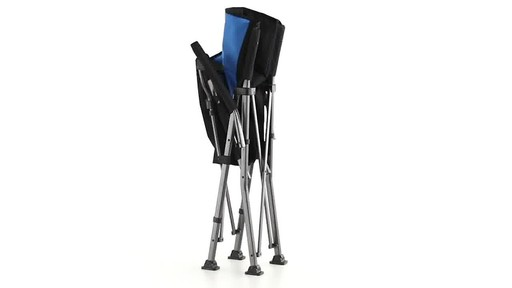 Guide Gear Oversized Champion Hard Arm Camp Chair Blue 360 View - image 8 from the video