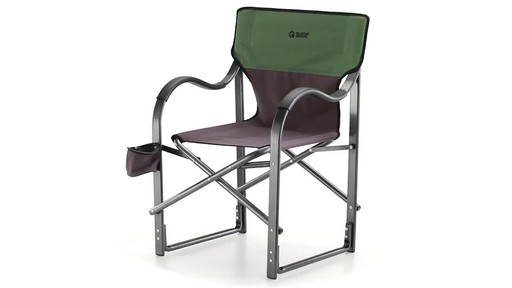 Guide Gear Oversized Aluminum Camp Chair Green 360 View - image 1 from the video