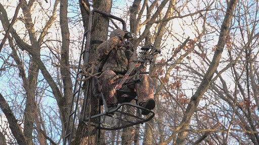 Guide Gear Extreme Comfort Hang On Tree Stand - image 2 from the video