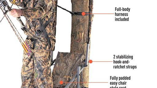 Guide Gear Extreme Comfort Hang On Tree Stand - image 4 from the video