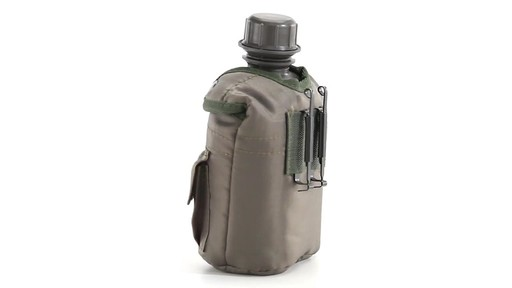 Military Style Canteen with Cover 2 Pack 360 View - image 1 from the video