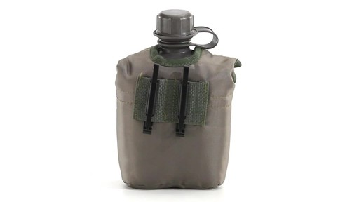 Military Style Canteen with Cover 2 Pack 360 View - image 10 from the video