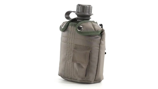 Military Style Canteen with Cover 2 Pack 360 View - image 3 from the video