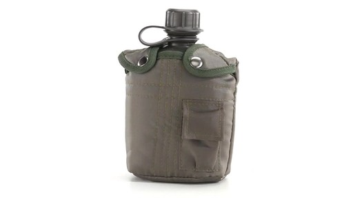 Military Style Canteen with Cover 2 Pack 360 View - image 4 from the video