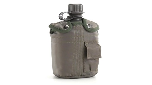 Military Style Canteen with Cover 2 Pack 360 View - image 5 from the video