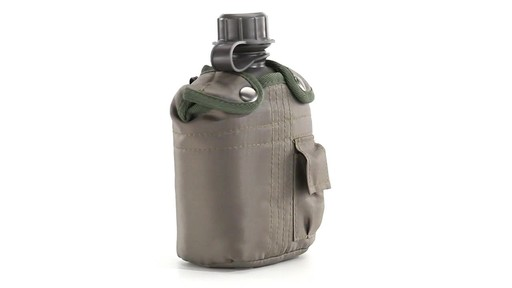 Military Style Canteen with Cover 2 Pack 360 View - image 6 from the video