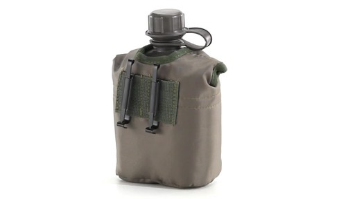 Military Style Canteen with Cover 2 Pack 360 View - image 9 from the video