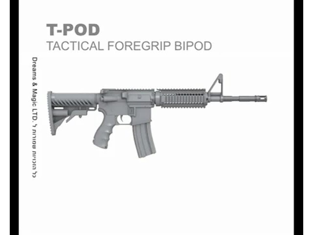 FAB Defense T-Pod Vertical Foregrip with Bipod - image 1 from the video