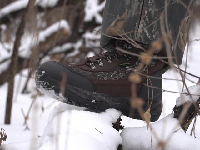 Guide Gear Artic Mens 2000 Gram Insulated Hunting Boots Waterproof Mossy Oak - image 10 from the video