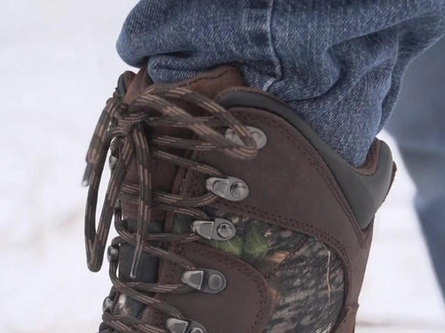 Guide Gear Artic Mens 2000 Gram Insulated Hunting Boots Waterproof Mossy Oak - image 8 from the video