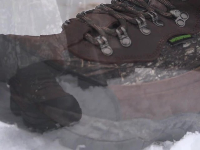 Guide Gear Artic Mens 2000 Gram Insulated Hunting Boots Waterproof Mossy Oak - image 9 from the video