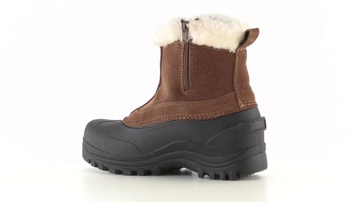Guide Gear Women's Insulated Side Zip Winter Boots 600 Gram 360 View - image 10 from the video