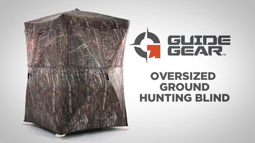 Guide Gear Oversized Ground Hunting Blind - image 1 from the video