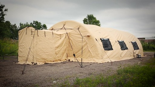 US Military Issue AirBeam Shelter 32' x 20' New - image 10 from the video