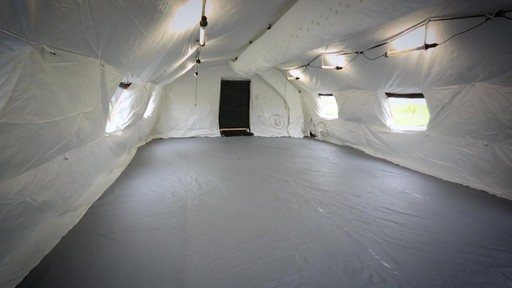 US Military Issue AirBeam Shelter 32' x 20' New - image 2 from the video