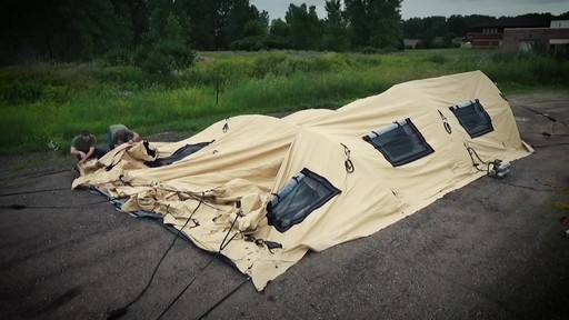 US Military Issue AirBeam Shelter 32' x 20' New - image 5 from the video