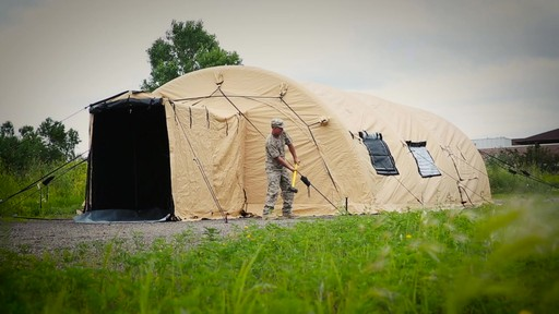 US Military Issue AirBeam Shelter 32' x 20' New - image 7 from the video