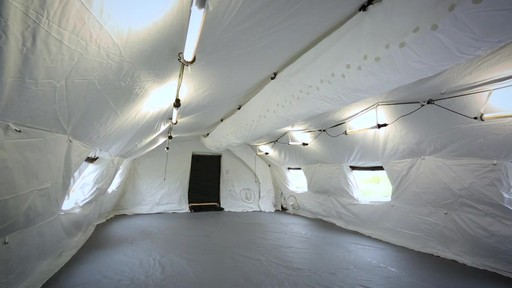 US Military Issue AirBeam Shelter 32' x 20' New - image 8 from the video