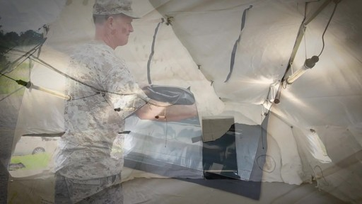 US Military Issue AirBeam Shelter 32' x 20' New - image 9 from the video