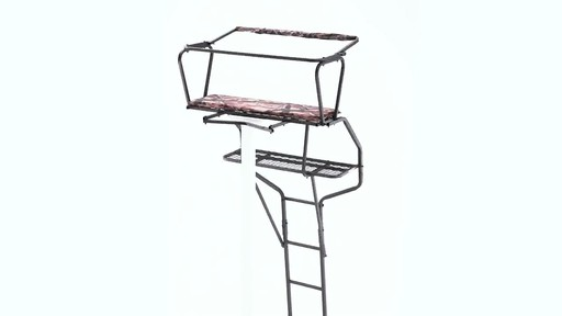 Guide Gear 18' Deluxe 2-Man Ladder Tree Stand 360 View - image 5 from the video