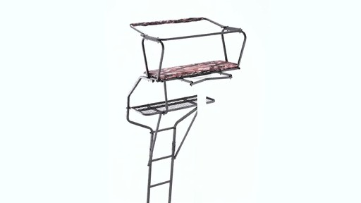 Guide Gear 18' Deluxe 2-Man Ladder Tree Stand 360 View - image 7 from the video