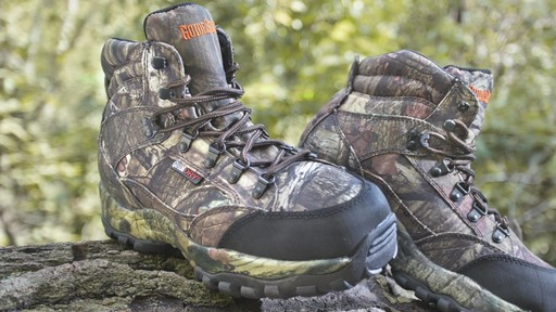Guide Gear Guidelight II Men's Hunting Boots 400 Gram Thinsulate Mossy Oak Camo - image 2 from the video