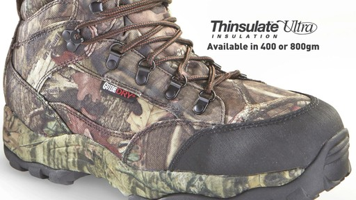 Guide Gear Guidelight II Men's Hunting Boots 400 Gram Thinsulate Mossy Oak Camo - image 5 from the video