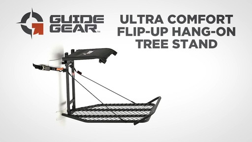 Guide Gear Ultra Comfort Flip-Up Hang-On Tree Stand - image 2 from the video
