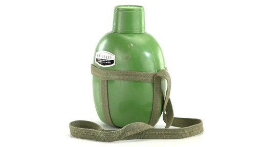 Chinese Military Surplus PLA Canteen Flask 360 View - image 1 from the video