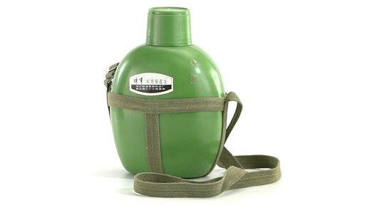 Chinese Military Surplus PLA Canteen Flask 360 View - image 2 from the video