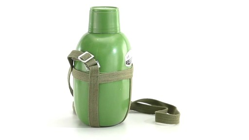 Chinese Military Surplus PLA Canteen Flask 360 View - image 5 from the video